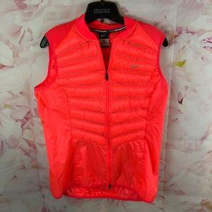 Nike L Bright Red Running Vest